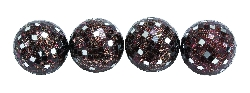 Kayden Copper Mirror Mosaic Ball Set Four
