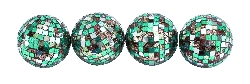 Kate Green Mirror Mosaic Ball Set Four