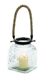 Molly Vintage Canning Jar Candle Lantern