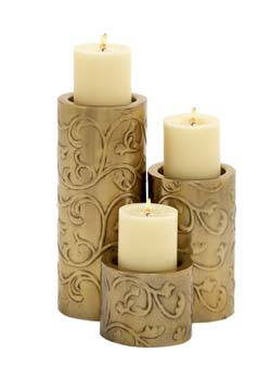 Edlu Metal Candle Holder Set/3