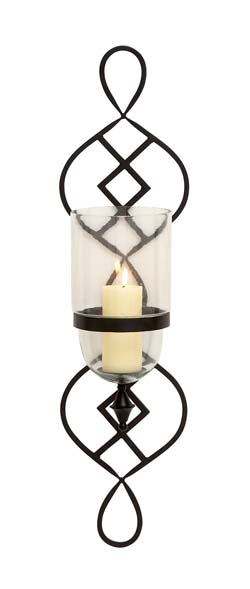 Mayo Metal & Glass Candle Sconce