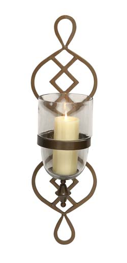 Tagish Metal & Glass Candle Sconce