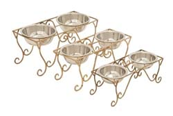 Ducru Metal Dog Feeder Set/3