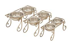 Beaucaillou Metal Dog Feeder Set/3