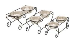 Brion Metal Dog Feeder Set/3