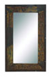 Debet Rectangle Wood & Metal Mirror