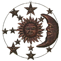 "Aidan 20"" Bronze Moon & Sun Wall Décor"