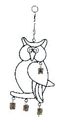 Fiona Wall Hanger Owl Wind Chime