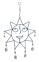 Kaleb Sun Face Wind Chime