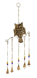Trinity Beaded Owl Wind Chime