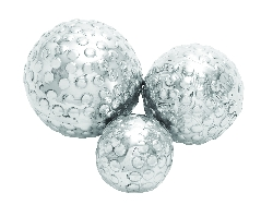 Jasper Set 3 Decor Ball In Silver Finish