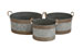Gudemnis Galvanized Planter Set/4
