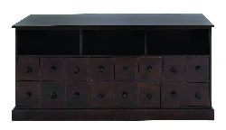 Devin Sixteen Drawer Wood Cabinet