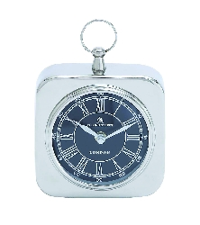 Mikayla Nickel Plated Table Clock
