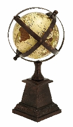 "Madilyn Globe Atlas 12"" H, 6"" W"