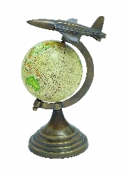 Skyler Globe Atlas With Aircraft Accent