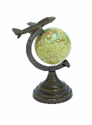 Dylan Globe Atlas With Aircraft Accent