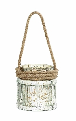 Braden Speckled Glass Candle Lantern
