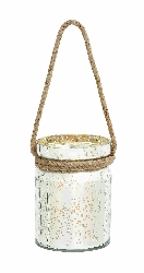 Freya Speckled Glass Candle Lantern