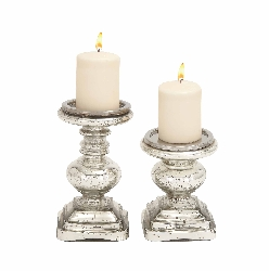 Tineka Glass Candle Holder Set/2
