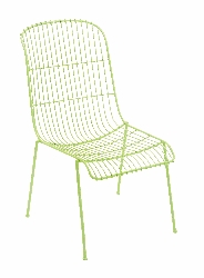 Tretuk Garden Green Metal Chair