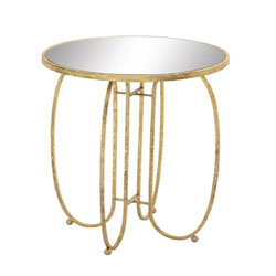 Mirimao Sleek & Metal Mirror Accent Table