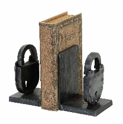 Aryan Lock Bookend Set