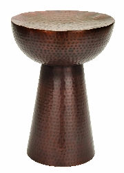 Noel Bronze Hammered Pedestal Stool