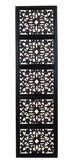 Corey Architectural Ebony Hand Carved Wood Panel 72x20