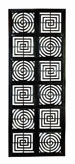 Callen Architectural Squares & Circles Hand Carved Panel