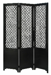 Matias Black Cottage 3 Panel Room Divider