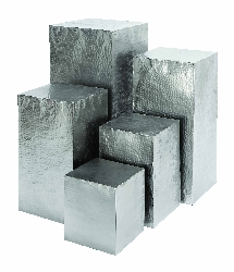 Manuel Hammered Square Pedestals Set 5