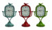 Veronica Table Clock Set 3 Blue, Green & Red