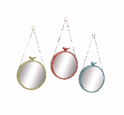 Karchevan Round Wall Mirror Set/3