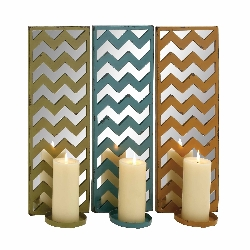 Karmir Mirrored Candle Wall Sconce Set/3