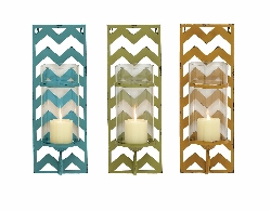 Karmirgyugh Colorful Candle Wall Sconce Set/3