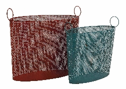 Katnajur Modish Styled Metal Basket