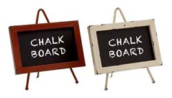Aspen Metal & Wood Chalkboard Set/2