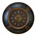 Zuri Royal Wood & Leather Wall Clock