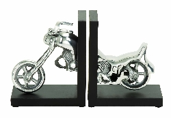 Sasha Motorcycle Bookend Set