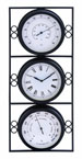 Celine Outdoor Clock With Two Thermometers