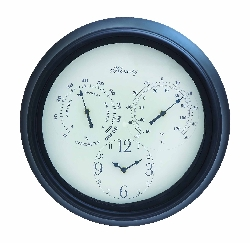 Jana Outdoor Wall Clock & Thermometer