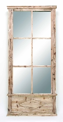 "Sergio 78"" Wood Wall Mirror"