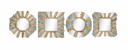 Beatriz Geometrical Wood Wall Mirror Set 4