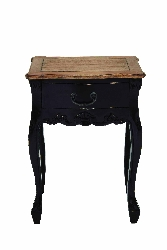 Braylon Natural & Black Wood Table
