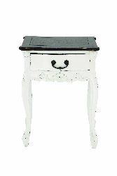 Jaylah Brown & White Wood Table
