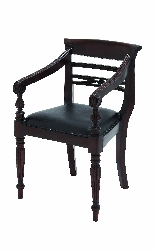 Sylvia Mahogany Pepe Royal Chair