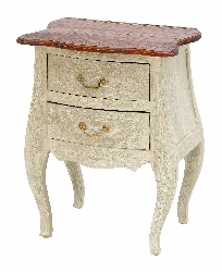 Kabir Wood Side Accent Table