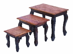 Reese Wood Nesting Table Set 3