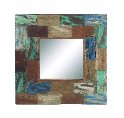 Rex Multi-Color Wood Mirror